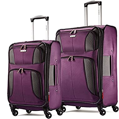 Samsonite Aspire XLite Expandable Spinner 2-Piece Set: 20 and 25 Spinners Potent Purple