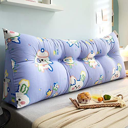 YLBH Cojín para mesita de noche, respaldo grande, cama de tatami, cabecera simple, paquete suave, cojín de respaldo, cojín triangular, doble 150 x 50 cm S