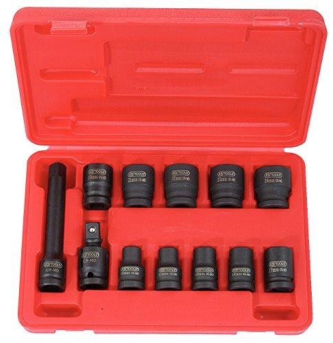 KS Tools 515.0112-1/2'juego de tubos de impacto, 12pcs, 10-24mm