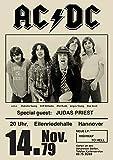 ACDC Poster #2 Vintage seltenes Band Rock Poster Konzert