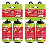 Scotch-Brite Lint Roller Twin Pack, 56 Count (Pack of 4)