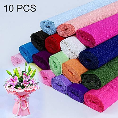 Dostawy imprez LGmin 10 sztuk Kwiaty Opakowanie Papier DIY Handmade Paper, Losowa dostawa kolorów .nowy produkt