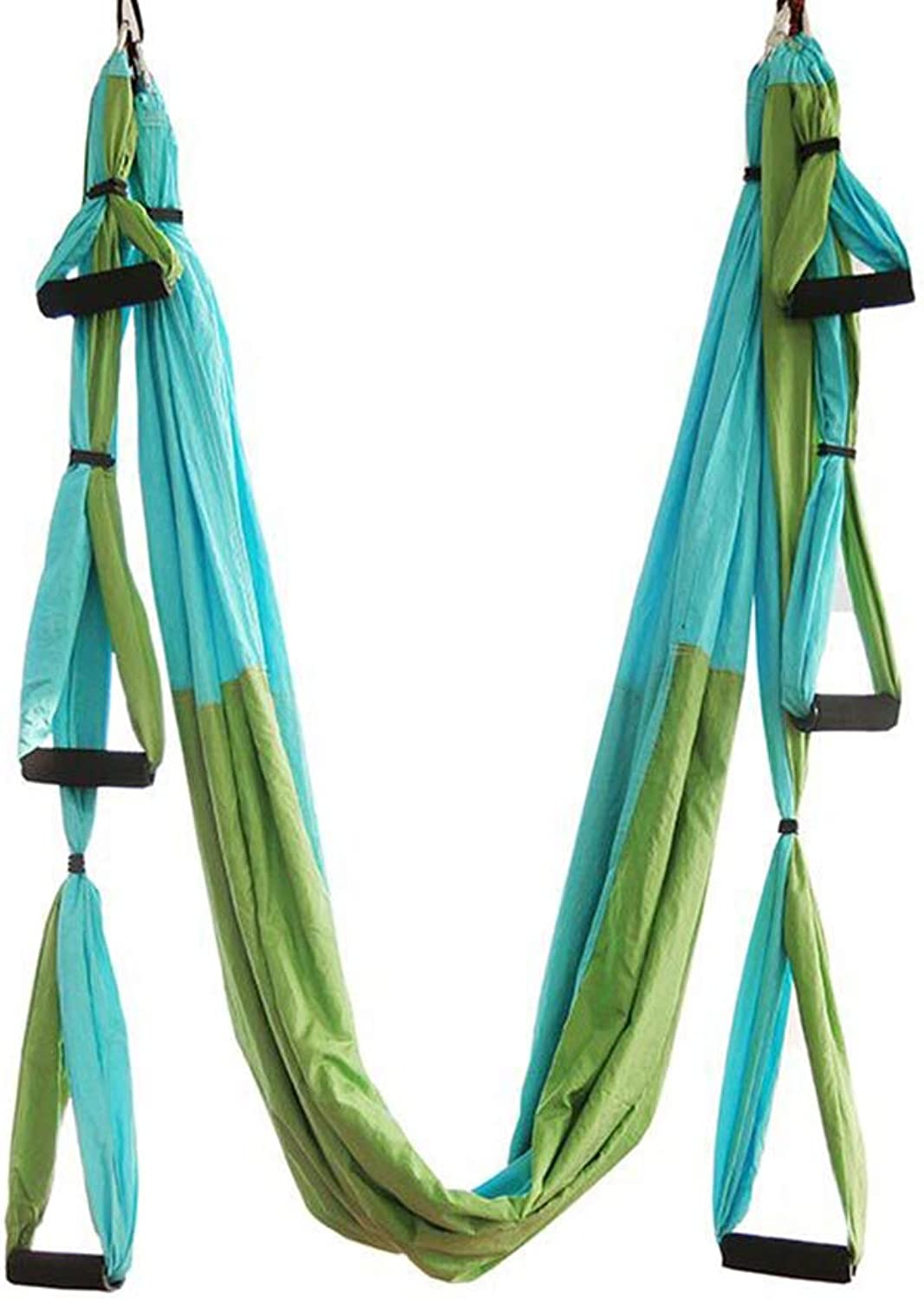 Aerial Yoga Hammock 6 HandleFree, Hong KongStyle Reverse Gravity Fitness Hammock with Extension Strap and Hanging Plate,D