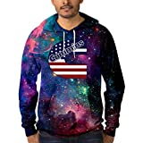 FengShengZX Men 3D Print Hoodie Cum-mins-American-USA Pullover Galaxy Sweatshirts with Pockets 3XL