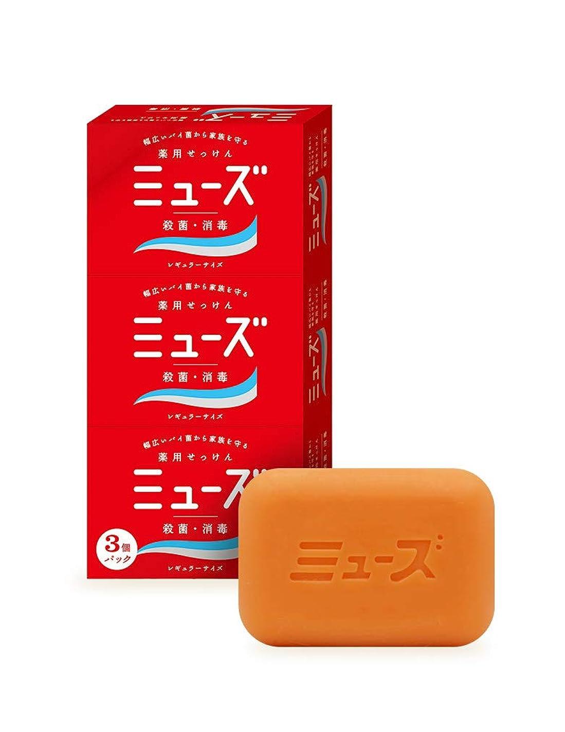 ばか着替える富【医薬部外品】ミューズ石鹸 レギュラー 95g×3個パック