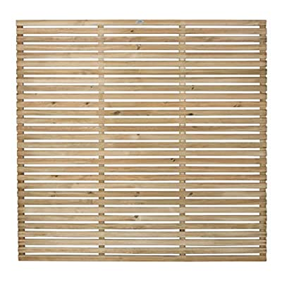 Forest Garden Forest Fence Panel, Pressure Treated, 6ft (Pack of 3) by Forest
