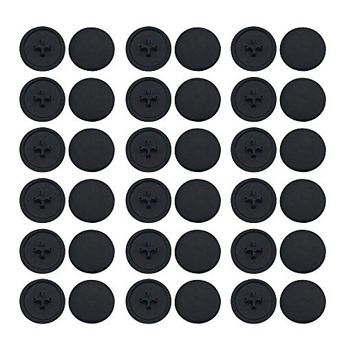 Plastic Screw Cap Covers 1000pcs Black Screw Covers for Phillips Cam Fitting Self-Tapping Screw