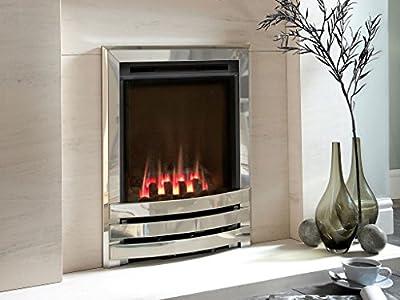 Flavel FSHCU0MN Coal Silver Contemporary Windsor HE Gas Fire - MC