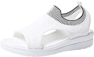 Lloopyting Sandalias Planas de Verano con Abertura en los Dedos, livianas, cómodas, atléticas y al Aire última intervensión, para Mujer
