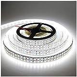 LEDENET Cold White 5M Double Row 3528 SMD 1200LEDs Flexible Strip Tape Light...