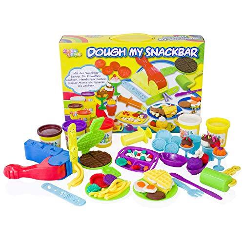 Leo & Emma Knete großes Spielset mit Spielknete Kreativ-Set Knete Kinder (My Snackbar)