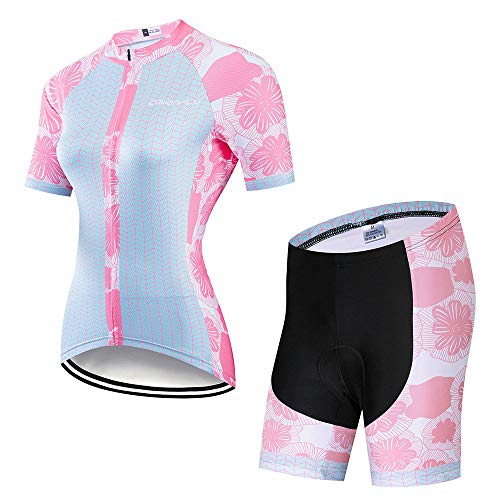 YDJGY Ciclismo Ropa Mujer 2019Ciclismo Conjunto Jersey
