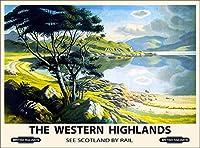 ERZAN風景知育puzzleスコットランドスコットランド西高地ビンテージグレートブリテン鉄道旅行ジグソーパズル500ピース