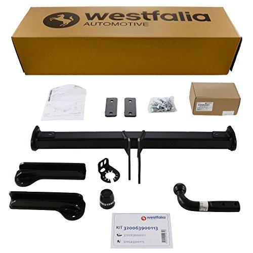Westfalia starre Anhängerkupplung für Volvo XC60 (BJ 11/08 bis 07/14) im Set mit 13-poligem fahrzeugspezifischen Westfalia Elektrosatz