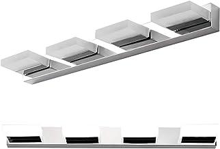 Minkissy 2Pcs Roestvrij Staal Spiegel Verlichting Moderne Kristallen Led Front Spiegel Lamp Voor Vrouwen Make- Up Badkamer...