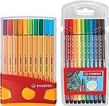 Stabilo point 88 ColorParade - Rotuladores de punta fina (20 unidades, 20 colores diferentes, incluye lápiz 68, 10 unidades)