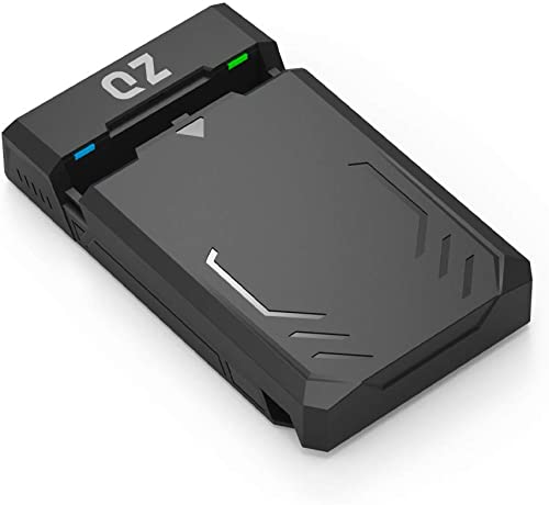 QZ 3.5 inch USB 3.1 SATA Hard Disk External Enclosure Case for 3.5/2.5 inch HDD/SSD [Power Adapter Included]