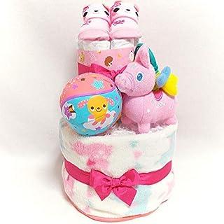 a11 おむつケーキ2段 女の子 ロディキャラクターオムツケーキ 出産祝い