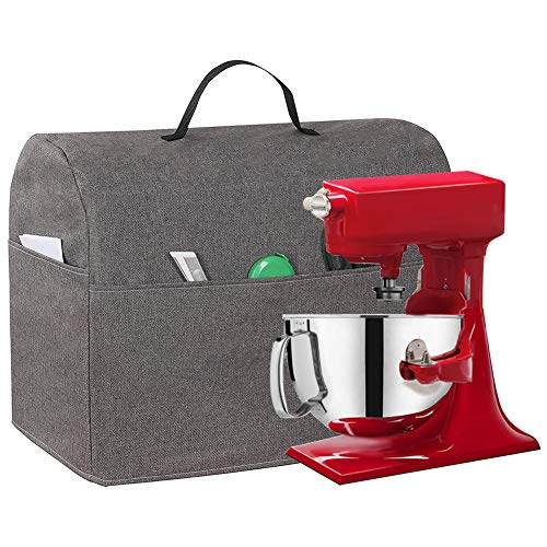 Kitchen Aid Mixer Dust Cover, 5-8Quart Stand Mixer Cloth Cover With Accessory Storage Pockets And Carry Handles, Small Appliance Storage Bag Compatible With Kitchen Aid Tilt Head