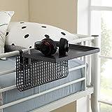 Walker Edison Universal Metal Bunk Bed Shelf Kids Bedroom Storage Basket, 14 Inch, Grey