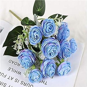 Guoshang Artificial Camellia Flower Simulated Flower Vase Decor Bride Bouquet Home Wedding Party Events Decoration