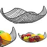 Vistella Fruit Bowl Basket in Matte Black - 6 Colors Available -...