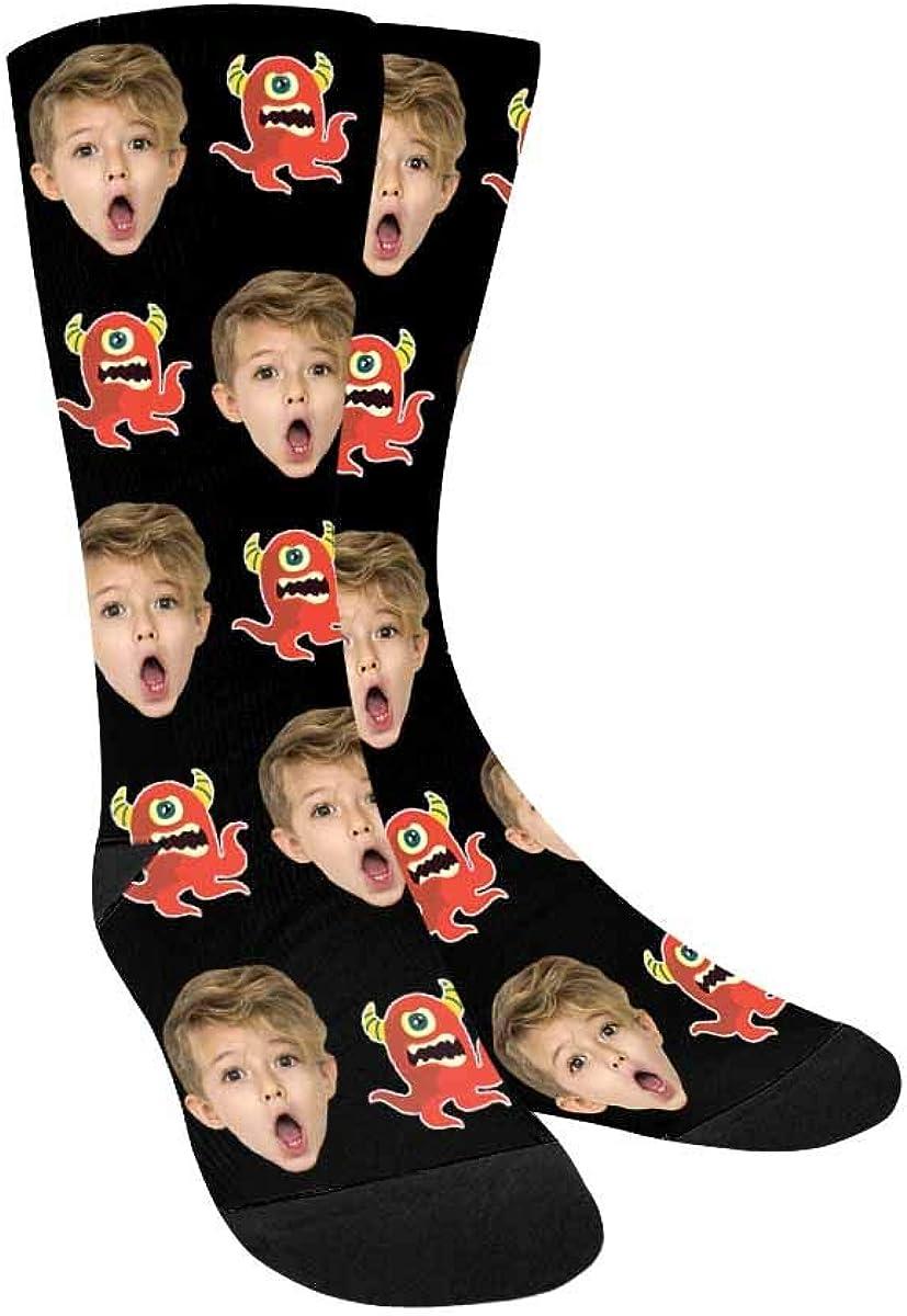 Custom Photo Socks The One Eyed Octopus Crew Socks for Girls