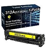Cartucho de tóner compatible para impresora Laserjet Pro MFP M476nw M476dn (amarillo) de repuesto para cartucho de tóner HP CF382A 312A (alta capacidad)