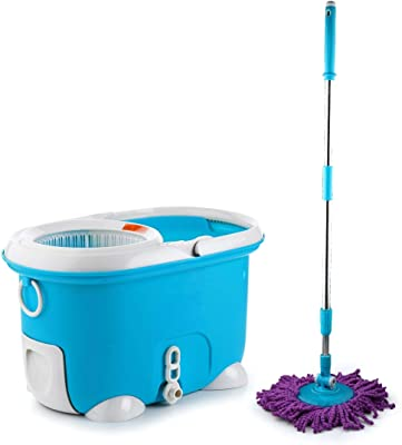 Sparkmate by Crystal Plastic Magic Cleaning Mop (Blue, 3-Pieces)