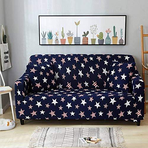 Funda Elástica de Sofá,Funda de sofá con patrón estampado, funda de sofá elástica antideslizante, cojín de sofá universal para todas las estaciones, funda protectora de muebles de sala de estar-Color