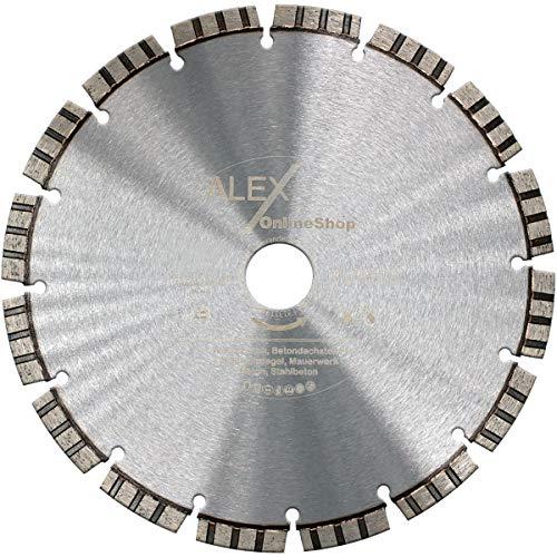 Premium Diamant-Trennscheibe 500 mm x 25,4mm Laser Beton-Scheibe für Trennschleifer Motorflex Fugenschneider Stein-Säge TURBO für Beton Stahlbeton Universal 500mm