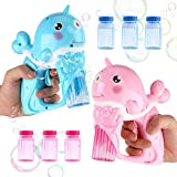 JoyGrow Bubble Gun Shooter pour Les Enfants, 2 Bubble Blaster avec 6 Bubble Solution LED Light et Musique Toddler Party favorise Les Jouets d'été activités en Plein air Fun Party Favors