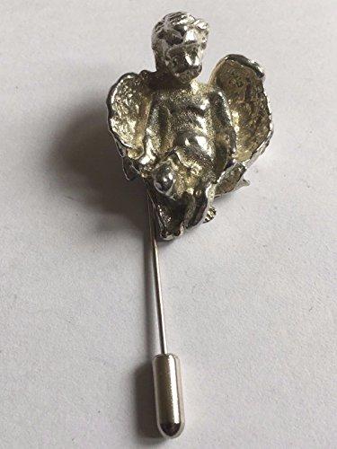 Cherub mit Engel Flügel 2,5x 3cm TG226English Pewter auf einem Krawattennadel Stick hat Schal Halsband geschrieben von uns Geschenke für alle 2016von Derbyshire UK