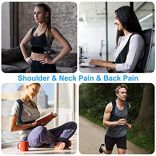 Posture Corrector for Men and Women, HailiCare Back Brace Posture Corrector Spinal Support Adjustable Back Support Providing Pressure Relief from Back, Neck & Shoulder, Improve Bad Posture(M Size)
