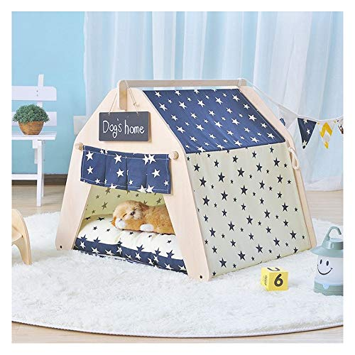 GDDYQ huisdier tent kat hond spel huis Kennel-mooi geschenk handige installatie schoonmaken met Blackboard Small Thickpad