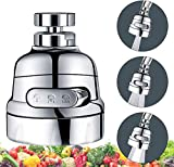 Aeratore mobile per lavello da cucina – girevole a 360° per rubinetto di ricambio per cucina, ugello per rubinetto con 3 modalità di regolazione