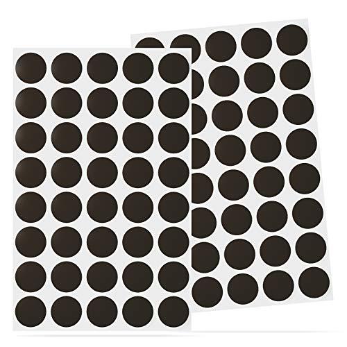 Reorda® Selbstklebende Magnetkreise (80 Stück) – Einführungsangebot für Magnet Kreise mit optimierter Magnetstärke für Postkarten & Fotos – Magnetplättchen mit stärkstem 3M-Kleber für Büro etc.