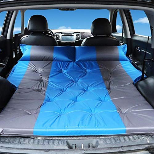 XTR Auto Aufblasbares Bett SUV Auto Matratze Hintere Reihe Auto Reisen Schlafunterlage Auto Zubehör Offroad Luftbett Camping Matte Luftmatratze, Blau