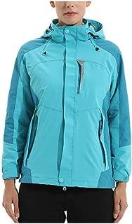 YXHM A Ladies Winter Jackets Outdoor Sports Three-in-One Jacket Mountaineering Waterproof Rainproof Warm Jacket (Color : Moon Blue, Size : XXXL)