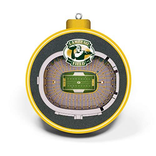 NFL Green Bay Packers - Lambeau Field 3D StadiumView Ornament3D StadiumView Ornament, Team Colors, Large