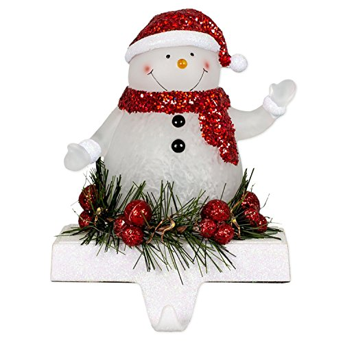 Snowman LED Light-up 7 inch Stocking Holder Christmas Figurine Décor
