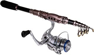 Perfeclan Fishing Rod and Spinning Reel Combos Foldable Rocker Arm Fishing Pole Sets
