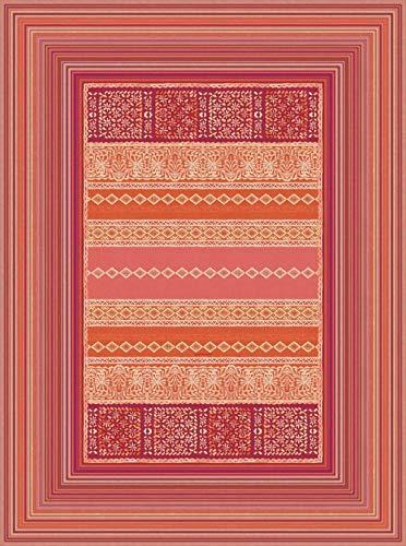 Bassetti 9311130 Teppich Italiana In Algeri R1 rot 110 x 150 cm