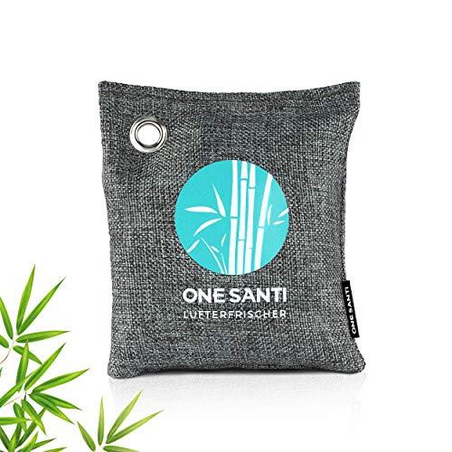 ONE SANTI Auto Entfeuchter aus natürlicher Bambus Aktivkohle - Lufterfrischer & Luftentfeuchter für Auto, Keller oder Schrank - Extra stark gegen Feuchtigkeit im Auto