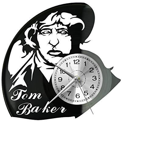 Tom Baker - Reloj de pared de vinilo, diseño retro