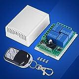 Raguso DC12V 4-CH 433MHZ Modulo Porta di Controllo per Garage Modulo per Garage Senza Fili Porta di Sicurezza avvolgibile Tapparella elettrica con Telecomando