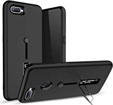 Lively Personality TPU + PC Dual Layer with Kick Stand & Finger Holder Back Case Cover for Realme C2 (Black)