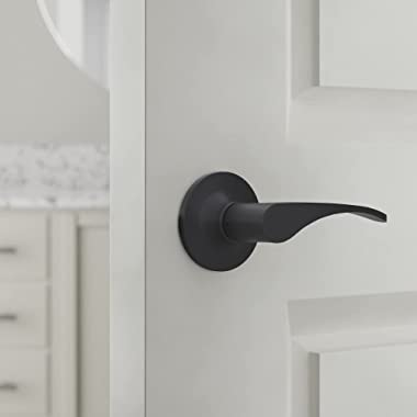 Amazon Basics Victor Dummy Door Lever - Right-handed Lever, Matte Black