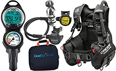 Cressi Start Pro 2.0 Scuba Diving Gear Package Assembled GUpG Reg Bag, Leonardo C2 XL