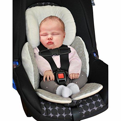 Vine Bébé Enfant Soutien Coussin Landau Poussette Siège Auto Reducteur Confort Sièges pour poussettes Réducteur Siège Auto(Gris)
